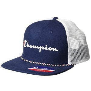 NWT Champion Men's Fade Away Trucker Hat Navy Blue